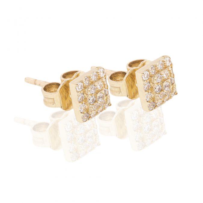 dámske náušnice zo zlata